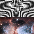 Mira 30 segundos los espirales y después ve la nebulosa
