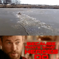 Man saves dog that fell through ice