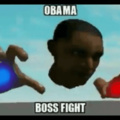 Fase 1 del boss fight de Obama. Hay más las cuales publicaré más tarde