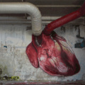 Stop motion graffiti heart