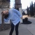 My sister the model / crash test dummy