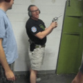 safety expert demonstrates what not to do