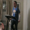 How not to use a treadmill.....