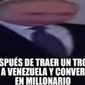 Yo trallendo un trozo de papel a Venezuela