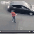 How to cross in heavy traffic
